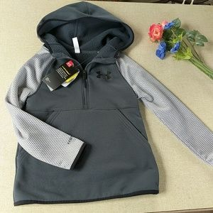 Under Armour Hooded Half Zip Jacket Youth S New